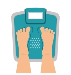 Balance scale gym icon vector