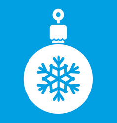 ball for the christmas tree icon white vector image