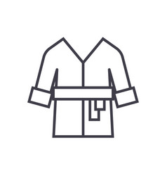 bathrobespa home line icon sign vector image vector image