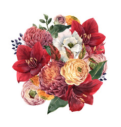 Beautiful floral composition vector
