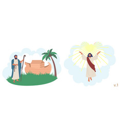 bible stories characters flat isolated vector image