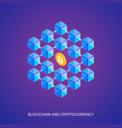 blockchain and cryptocurrency concept vector image