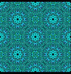 Blue bohemian oriental mosaic kaleidoscope vector