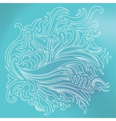 Blue sea ornament vector image