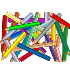 bunch of colored pencils vector image
