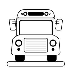 bus school transport vector image