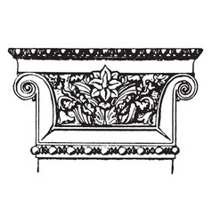 capital out vintage engraving vector image