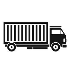 Cargo truck icon simple style vector