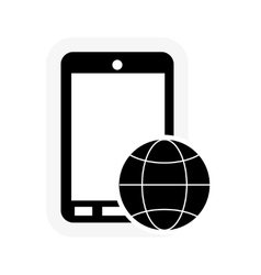 Cellphone and play icon vector
