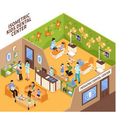 Children dentists isometric vector