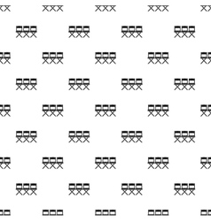 Cinema chair pattern simple style vector