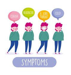 Covid19 19 coronavirus infographic symptoms cough vector
