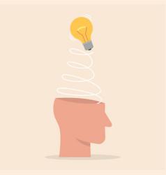 creative idea imagination innovation concept vector image