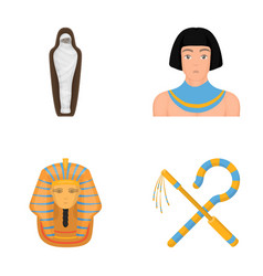 crook and flaila golden mask an egyptian a vector image
