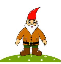 cute gay garden gnome vector image