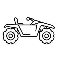desert quad bike icon outline style vector image