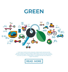 Digital eco transport icons set vector