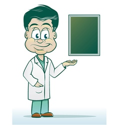 Doctor in a Lab Coat vector image