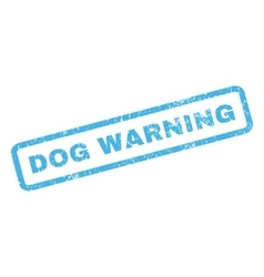 Dog Warning Rubber Stamp vector