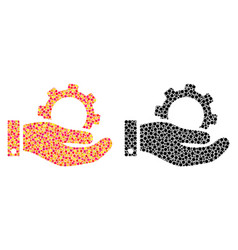 Dot service mosaic icons vector