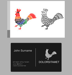 emblem icon french rooster vector image