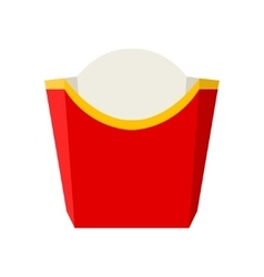 empty packaging for french fries vector image