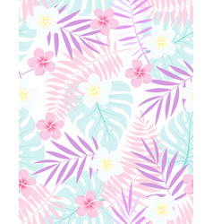 exotic floral tropical pattern vector image