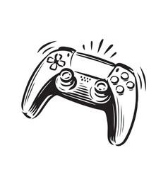 Game controller symbol joystick vector