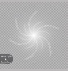 glow light effect christmas vector image