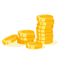 gold coins stack isolated vector image