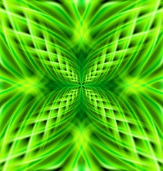 Green pattern on the black background vector image