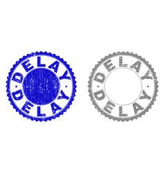 Grunge delay textured stamps vector