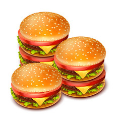 hamburger 02 vector image