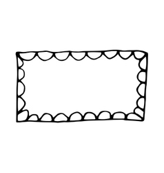 Hand drawn rectangle frame vector