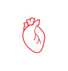 heart organ icon design template isolated vector image