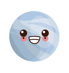 kawaii planet of the solar system cartoon image vector image