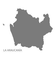 la araucania chile map grey vector image