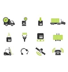 Logistics icons vector image