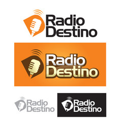 Logo radio vector