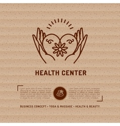 Medical Center Health Card beauty salon vector image