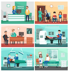 medical hospital clinical care emergency nurse vector image
