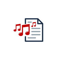 melody document logo icon design vector image