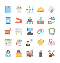 Office management and stationery supplies flat ve vector