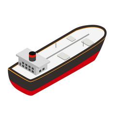 Oil tanker isometric 3d icon vector image