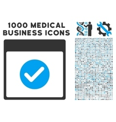 Ok calendar day icon with 1000 medical business vector