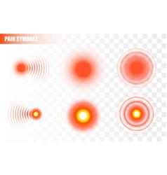 pain symbols isolated on white vector image