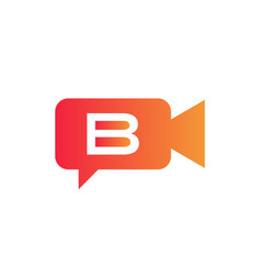 Podcast logo media logo design with b letter eps vector