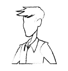 Portrait man contour male default image vector