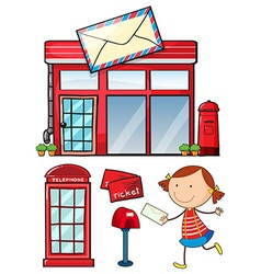 Postal vector image