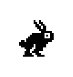 Rabbit pixel icon animal vector